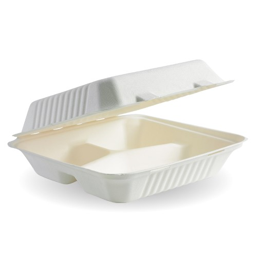 Sugarcane Bagasse Hinged Container
