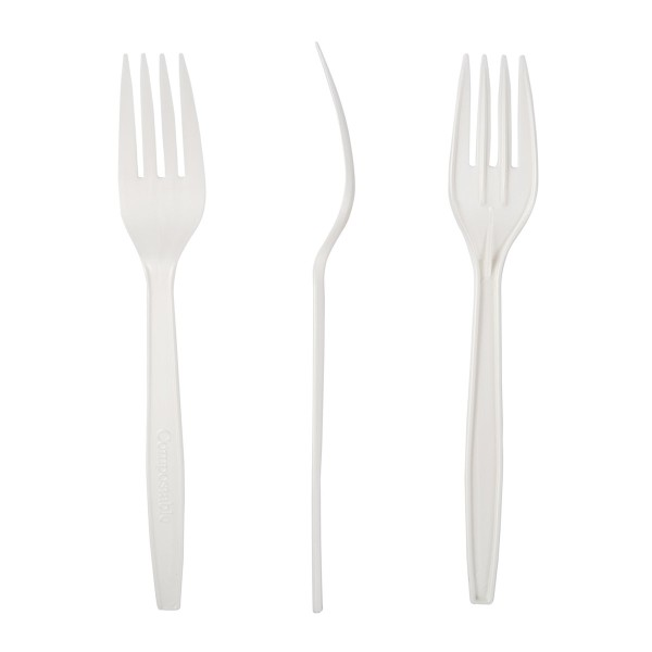 Biodegradable and Compostable PLA Cutlery - White