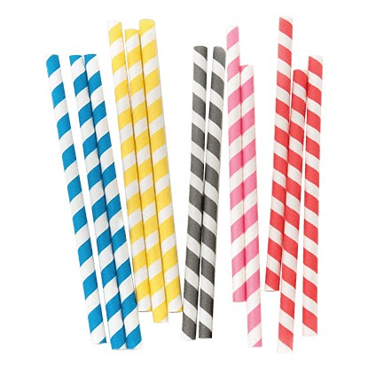 Food Grade White and Colored Paper Straw